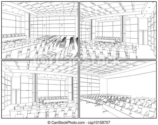 El interior de la sala de conferencias - csp10158707