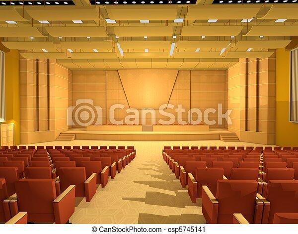 Sala o sala de conferencias vacías - csp5745141