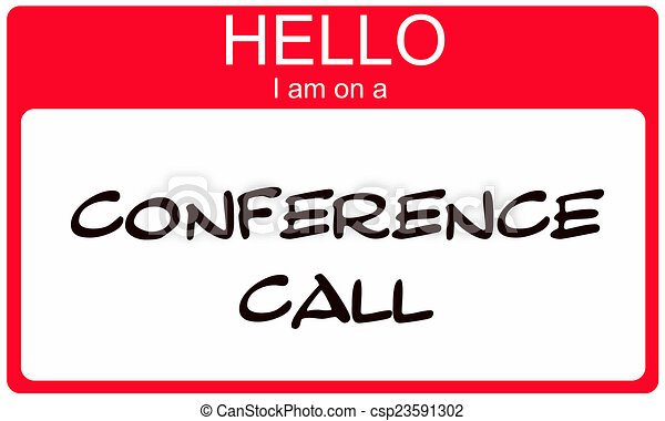 conferentie, noem etiket, roepen, hallo, rood - csp23591302