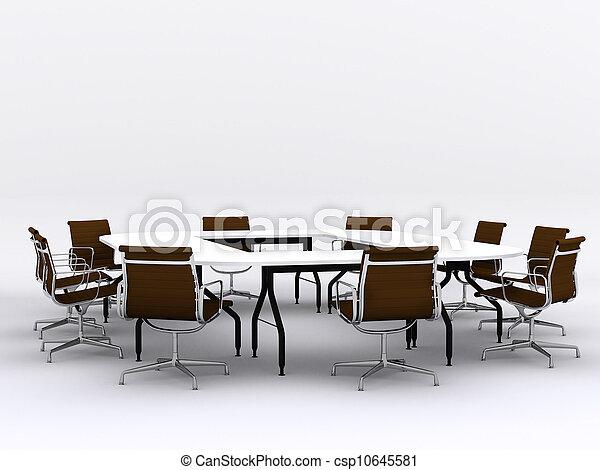 conferentie, stoelen, vergaderruimte, tafel - csp10645581