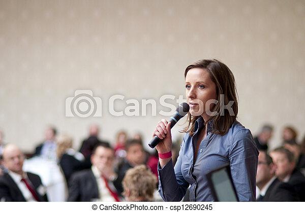 conferenza, affari - csp12690245