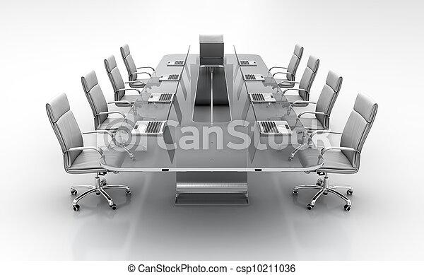 conferenza, tavola. - csp10211036