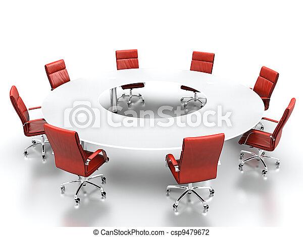 conferenza, tavola. - csp9479672
