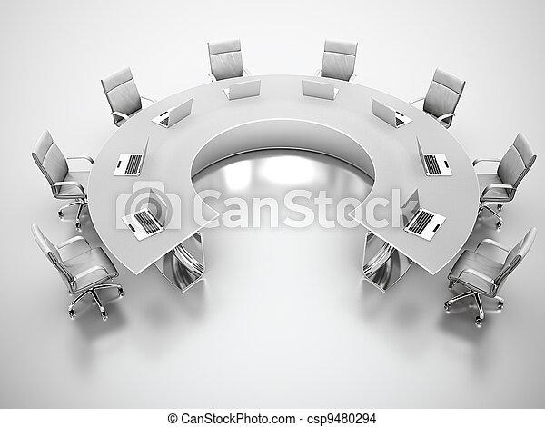 conferenza, tavola. - csp9480294