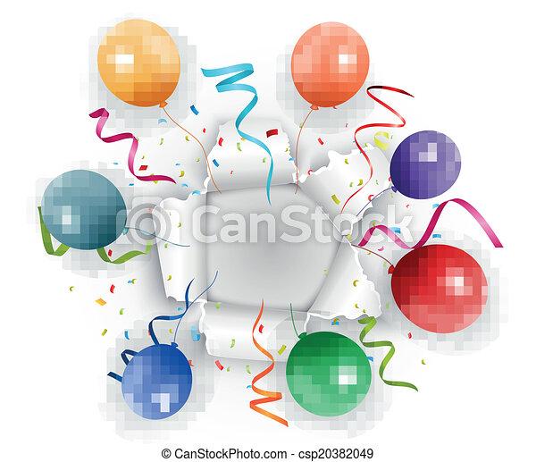 Celebración con confeti - csp20382049