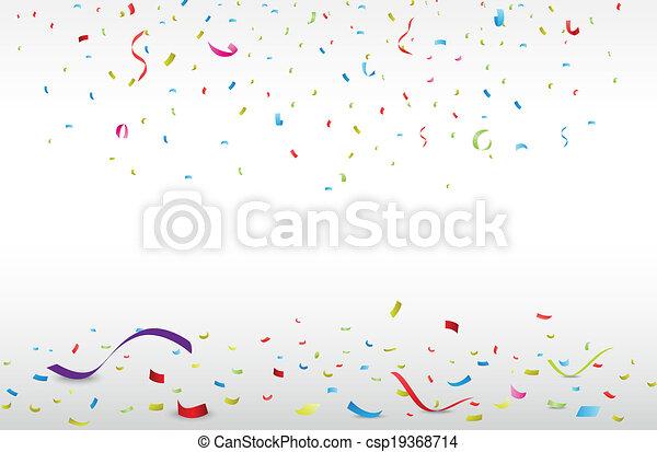 Celebración con confeti colorido - csp19368714