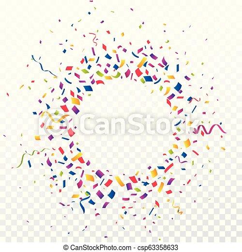 Un fondo colorido de celebración con confeti - csp63358633