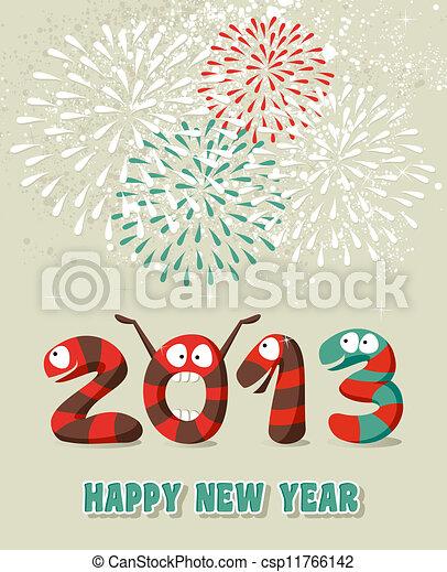 Confeti de Año Nuevo feliz - csp11766142
