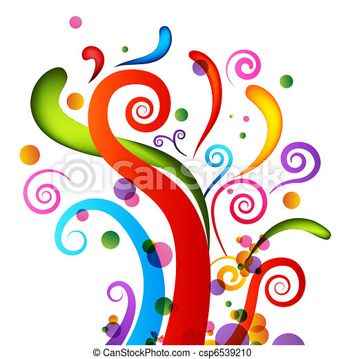 confetti, éléments, célébration - csp6539210