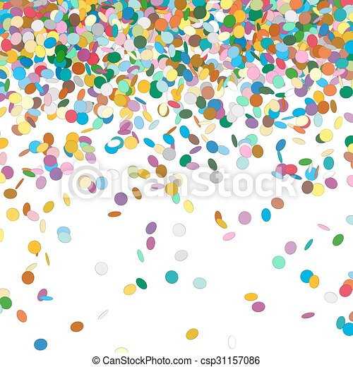 confetti background template falling chads backdrop vector
