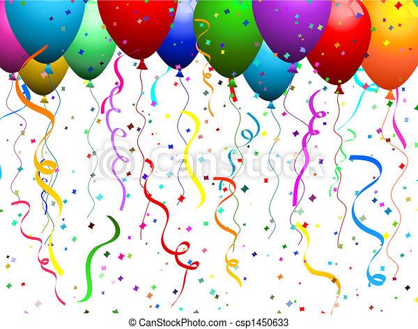 confetti, balões - csp1450633