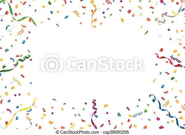 Confetti cadre blanc banderole fond 10 format - Dessin banderole ...