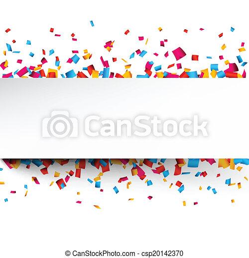 Confetti celebration background. - csp20142370