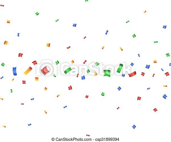 Un colorido confeti para celebrar. - csp31899394