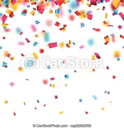 confetti, experiência., celebração - csp22652055