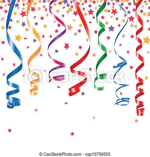 confetti, fond, serpentine - csp10756503