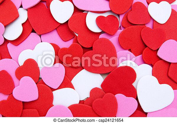 confetti, saint-valentin, fond - csp24121654