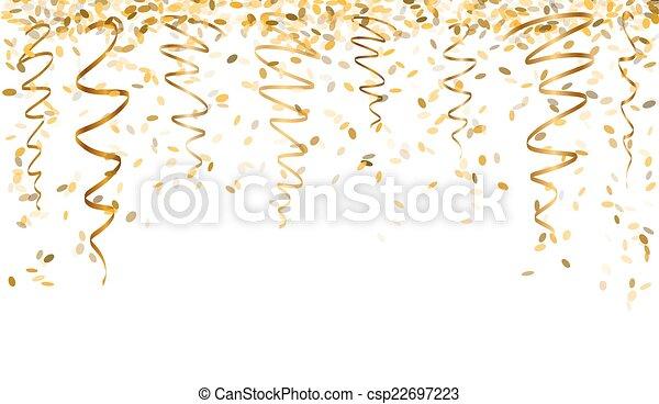 confetti, tomber, or - csp22697223