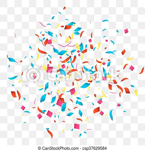 confetti vector background over transparent grid for holidays party rh canstockphoto com confetti vectoriel gratuit confetti vectoriel