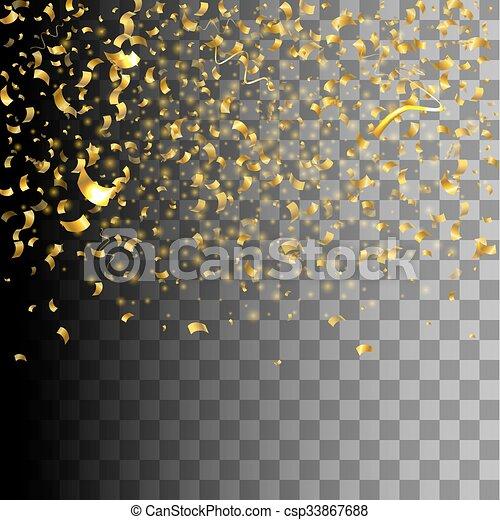 Confetti versiering goud gouden vector kleurrijke for Versiering goud