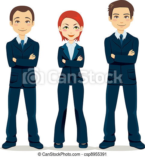 confiado, equipo negocio - csp8955391