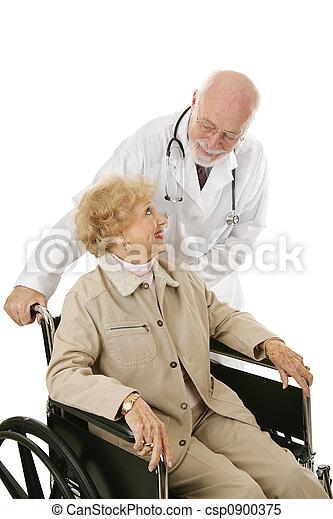 confiança, paciente, doutor - csp0900375
