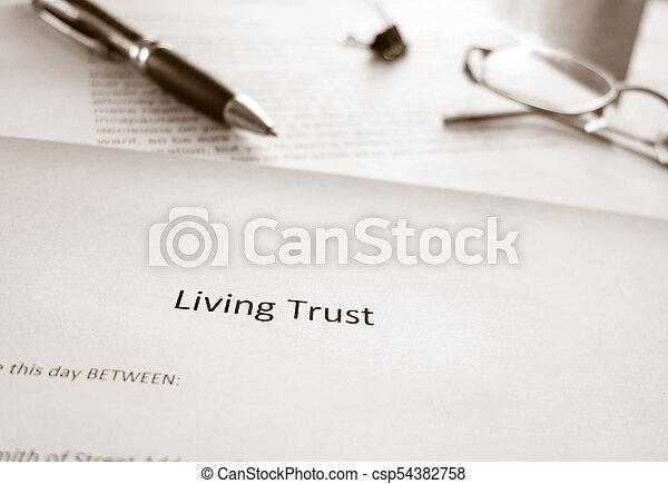 confiance, vivant, planification, propriété - csp54382758