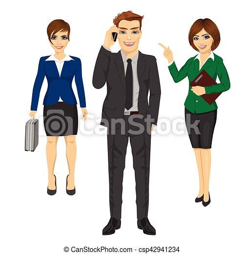 confiant, équipe, jeune, professionnels - csp42941234