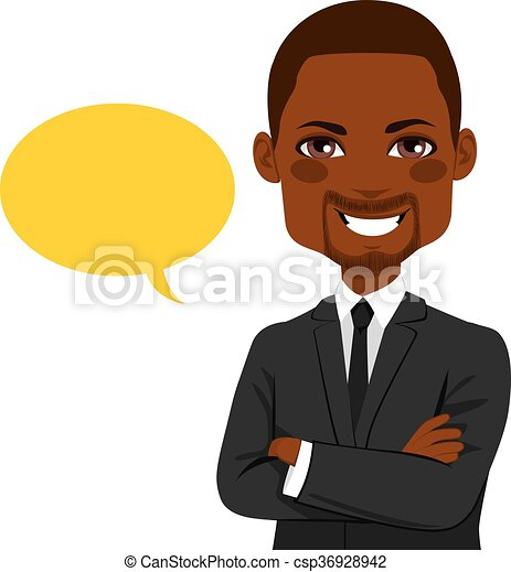 confiant, balloon, homme affaires - csp36928942
