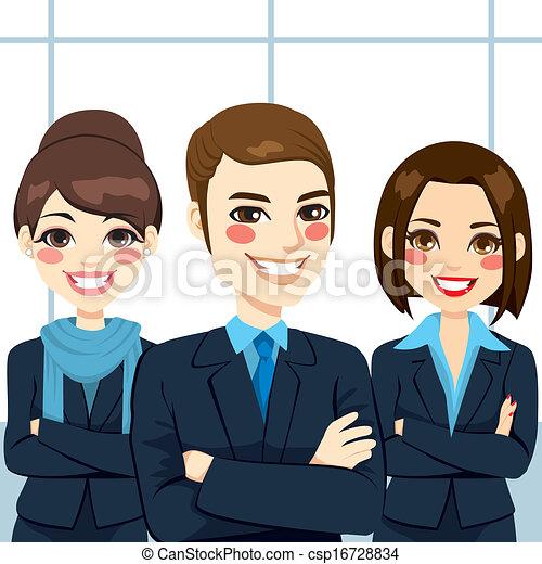 confiant, equipe affaires - csp16728834
