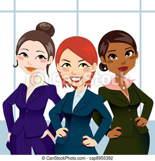 confiant, femmes affaires - csp8955392