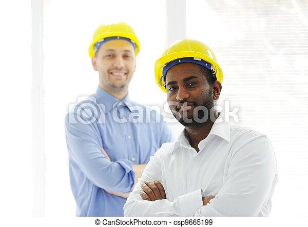 confiant, jeune, ingénieur - csp9665199