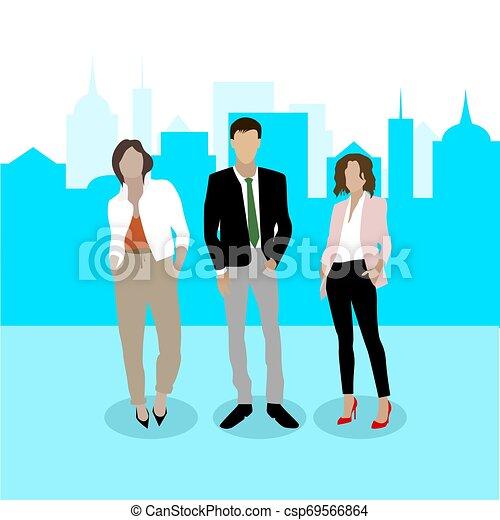confiant, team., businesspeople, business - csp69566864