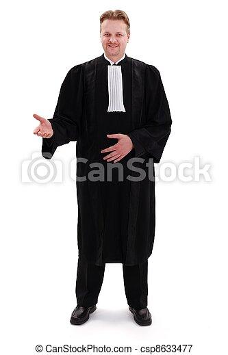 confiante, advogado, feliz - csp8633477