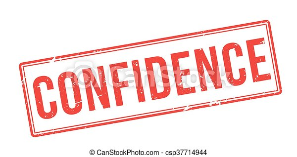 Confidence red rubber stamp on white - csp37714944