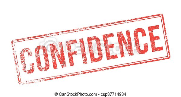 Confidence red rubber stamp on white - csp37714934