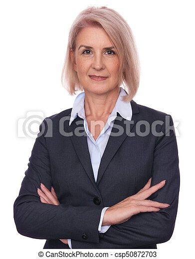 confident beautiful middle aged business woman - csp50872703