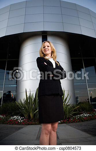 Confident business woman - csp0804573