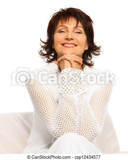 Confident happy senior adult - csp12434577