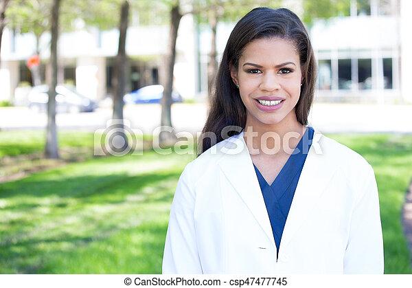 Confident healthcare professional - csp47477745