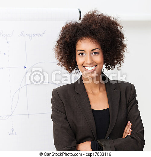 Confident smiling African American woman - csp17883116