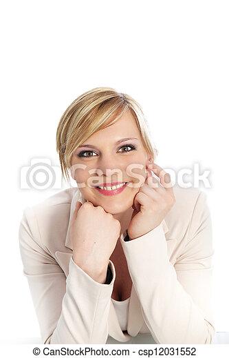 Confident smiling professional woman - csp12031552