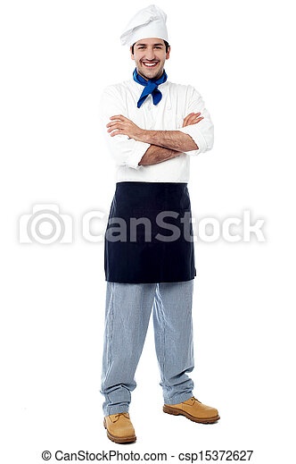 Confident young male chef - csp15372627