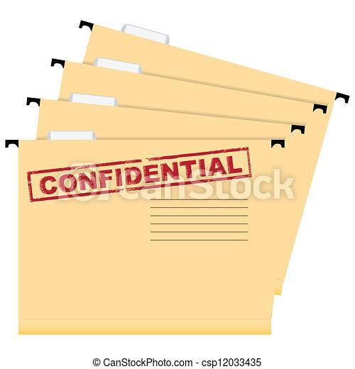 Confidential documents - csp12033435