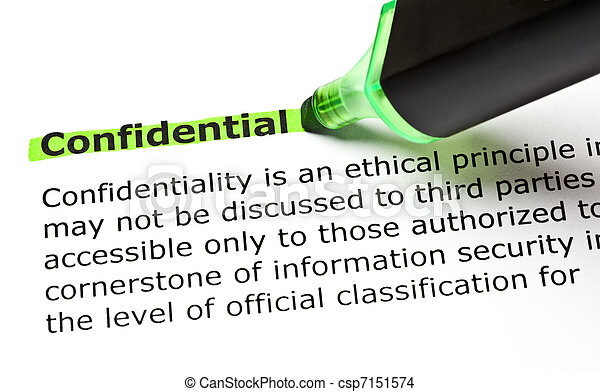 CONFIDENTIAL highlighted in green - csp7151574
