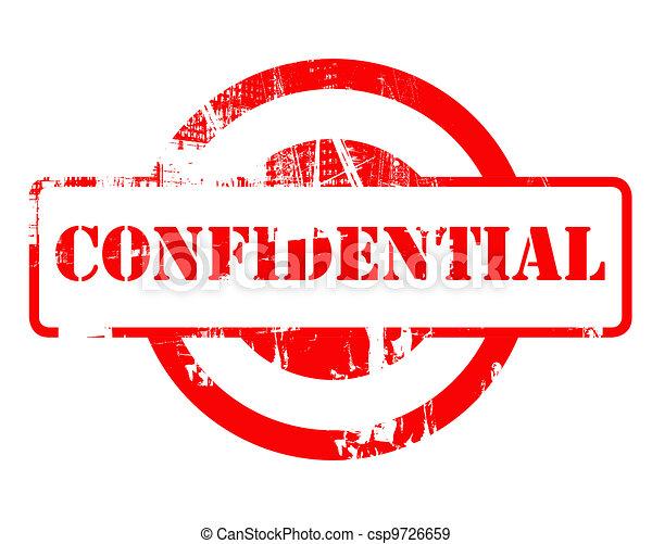 Confidential red stamp - csp9726659