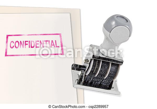 Confidential Rubber Stamp - csp2289957