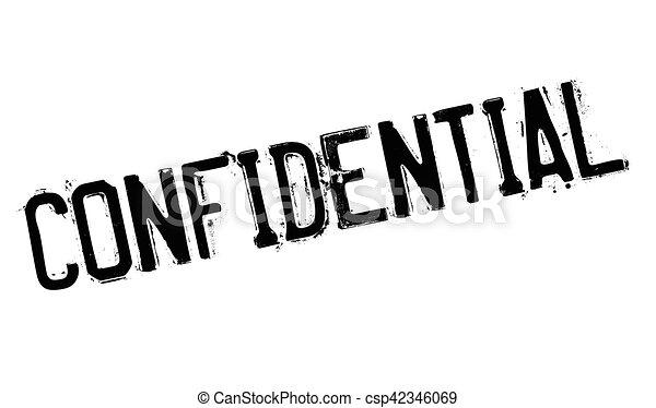 Confidential stamp - csp42346069