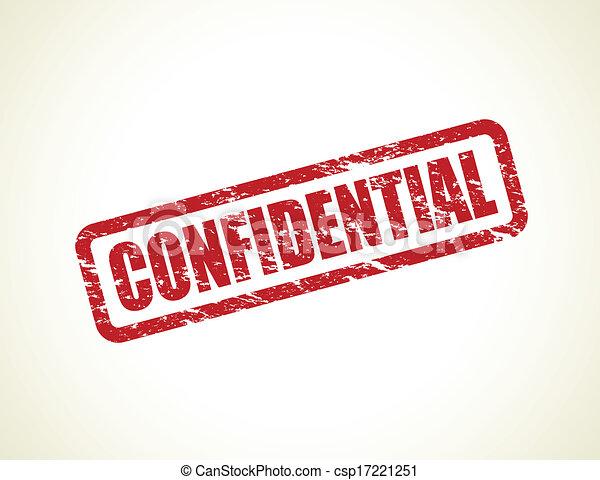 confidential stamp - csp17221251