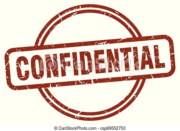 confidential stamp - csp69552753